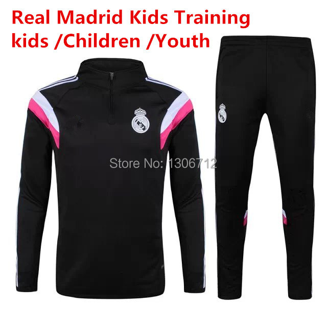 Real Madrid Kids Soccer Training Spain Survetement Football Enfant Real Madride Children Youth Baby Football Pants Tracksuit(China (Mainland))