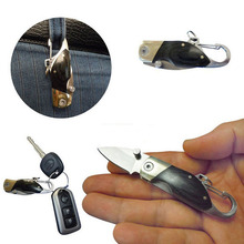 1 Pc Stainless Steel Outdoor Blade Knife Mini Key Chain Pocket Tool Camping Hunting Tools Folding Tactical Survival Knives(China (Mainland))