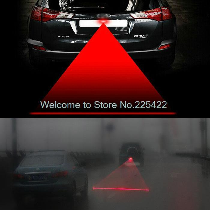 Anti Collision Rear end Car Laser Tail Fog Light Auto Brake Parking Lamp car styling Warning