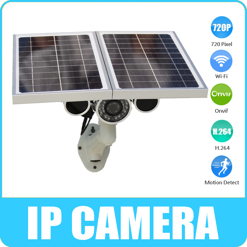 Hot Sale Wanscam H.264 Solar Power 1Megapixel 720P Energy Saving TF Card Record Lens 8mm Wifi Outdoor Waterproof Camera IP(China (Mainland))