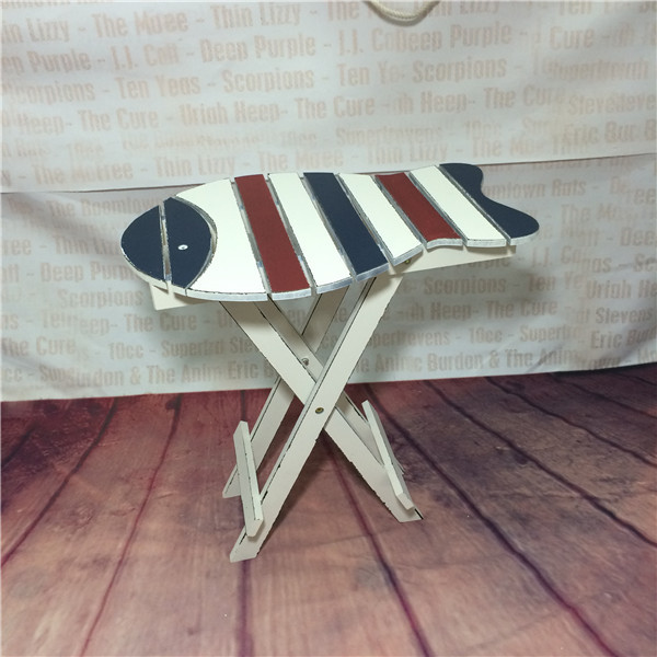 The Mediterraneanstyle wood furniture and creative fashion the old fishshaped coffee folding table FREE SHIPPING(China (Mainland))