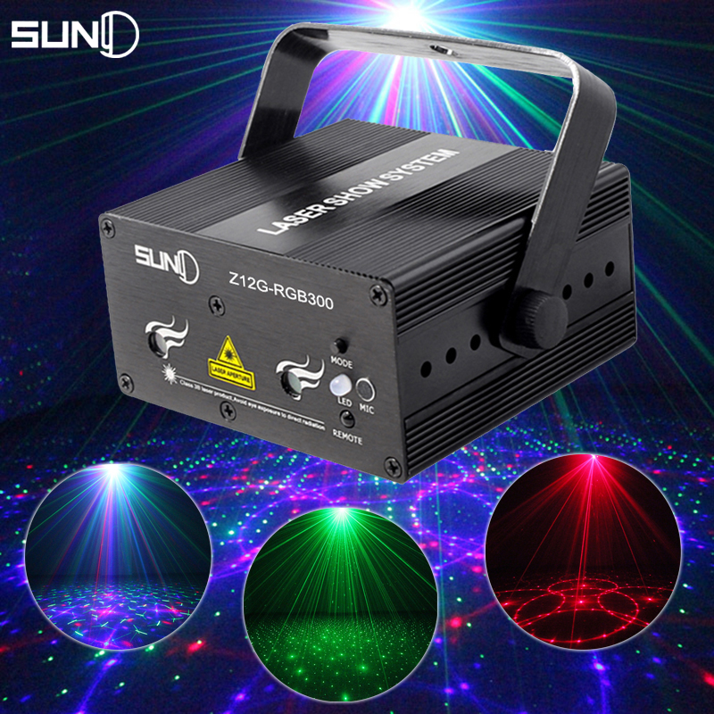 Фотография Mini RGB Laser Light Show Projector Portable Home Party Disco Lights Luces Discoteca Lumiere Lamp DJ Lighting System For Sale
