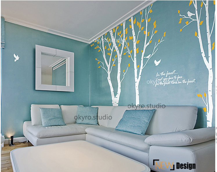 Arbre stickers muraux bouleau stickers muraux for t - Stickers salle a manger ...