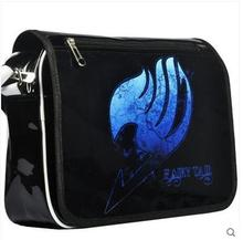 The new fairy tail bag shoulder bag inclined shoulder bag patent leather anime bag naz printing fine men and women(China (Mainland))