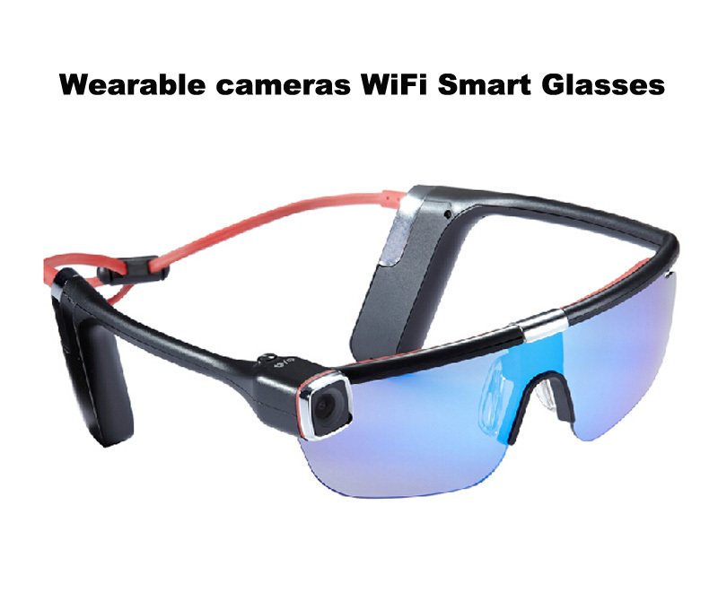2015 New  smart glasses portable camcorder hd  action camera Full HD Wifi control 1080P 16 million  Sport Sunglasses Camera<br>