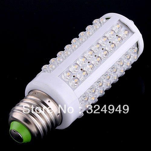 7W warm white/white led lighting AC 220-240V 108 LED E27 led bulb lamp Corn Light Bulb 10pcs/lot free shipping(China (Mainland))