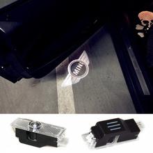 LED Car mini door courtesy laser projector Logo Ghost Shadow Light For Mini clubman R56 mini cooper R53 R56 R57 R58 R59 R60 R50(China (Mainland))