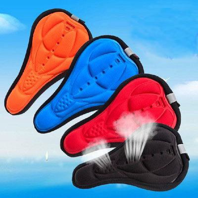 Cycling Mountain bicycle Saddle Comfortable Silicone Gel Colorful Seat Cover Cushion Outdoor Sports Soft Mountain bike Pad(China (Mainland))