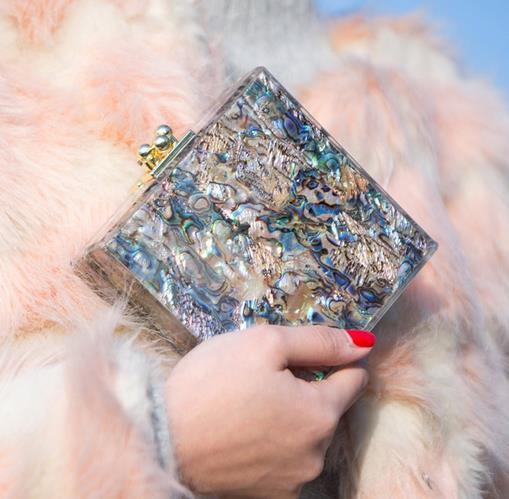 Luxury fashion gift градиент цвета мини оболочки сцепления вечерняя сумочка женская сумочка сумка площадь свадьба пакет
