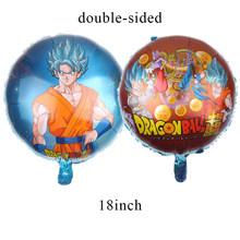 Dragon Ball Z Goku Fontes Do Partido Talheres Prato Copo de Papel Guardanapos Baby Shower Decorações Do Partido Balões de Aniversário Dos Miúdos AH10(China)