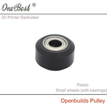 3D Printer Accessories Plastic pulley Openbuilds Passive Pulley Perlin Wheel POM Small wheels (with MR105 bearing) Free Shipping