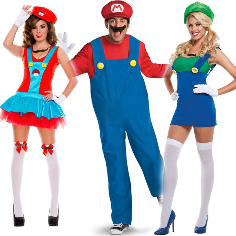 Online Get Cheap Kids Mario And Luigi Costumes Aliexpress  sc 1 st  Meningrey & Super Mario Cosplay Costume - Meningrey
