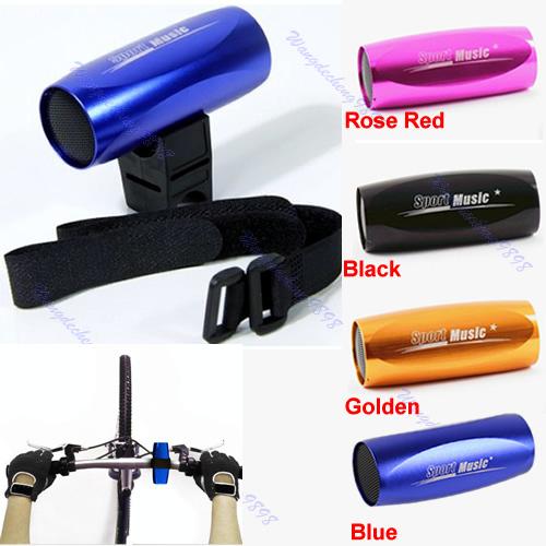 Free Shipping Portable Mini Sport Bicycle Bike FM Radio Micro SD/TF MP3 Player Music Speaker(China (Mainland))