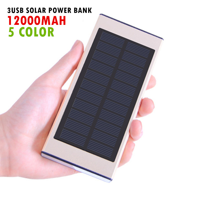 15000mAh Solar Charger Waterproof Solar Phone External Battery 3 USB Power Bank for Iphone Xiaomi Htc With LED Light Lamp(China (Mainland))
