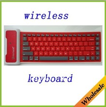 wholesale free shipping floding washable waterproof silicon bluetooth keyboard for table ipad2/3 iphone4/4s(China (Mainland))