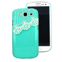 For Samsung Galaxy S3 GT-I9300 phone shell hard pearl lace case for Samsung Galaxy S3 Neo cover