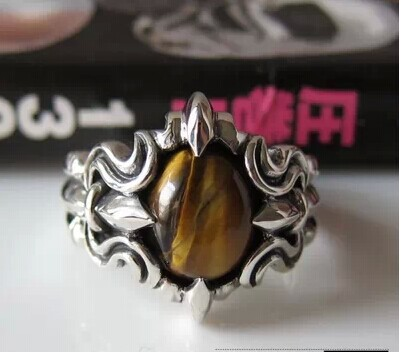 Thai Silver Mens Ring 925 sterling silver imported from Thailand inlaid tiger eye stone ring<br><br>Aliexpress