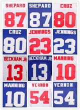 Men's 54 Olivier Vernon 23 Rashad Jennings 28 APPLE 87 SHEPARD 90 Jason White Blue orange Elite Jerseys(China (Mainland))