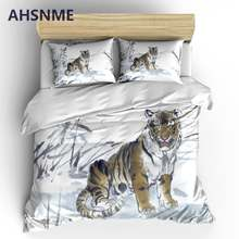AHSNME Elegant Lotus Bedding Sets Chinese Painting Duvet Cover Pillowcase 2/3pcs Bed Set Flower Bedlinen Queen King Size(China)