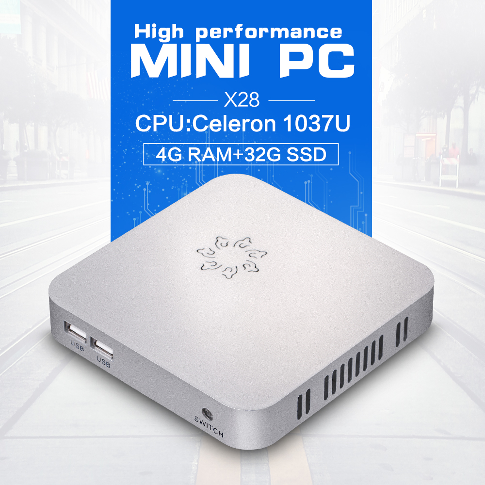 Wholesale zero devices X28 C1037U 1.8GHZ 4G RAM 32G SSD desktop computer pc all one windows thin pc support Pointing device(China (Mainland))