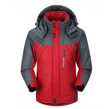2016 Novos Homens Ao Ar Livre Engrossar Casaco de Inverno quente super Alpinismo Jaqueta masculina Com Capuz Parkas jaquetas À Prova de Vento plus size