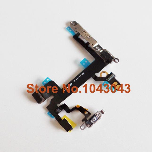 Гаджет  1 Piece Only New Power Flex Cable Mute Switch Volume Buttons With Metal Brackets For iPhone 5S Free Shipping None Телефоны и Телекоммуникации