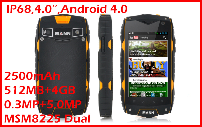 MANN ZUG3 A18 cell phones rugged mobile phones waterproof dustproof shockproof Original ZUG3 phone waterproof cell by russian(China (Mainland))