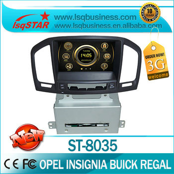 Opel Insignia/ Buick /Regal dvd player with 3G wifi PIP dual zone full complete functions & hotselling ST-8035