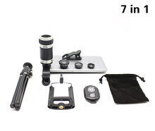 Buy 7in1 8x Zoom Telephoto Phone Camera Lens Tripod Mount 3in1 Fisheye Wide Angle Macro Lenses Bluetooth Shutter xiaomi Samsung for $14.92 in AliExpress store