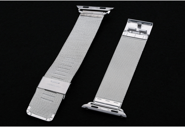 2015 Newest Milanese Stainless Steel Strap Classic Buckle Adapter Watch Band for Apple Watch 38mm 42mm With Watch Band Adapter(China (Mainland))