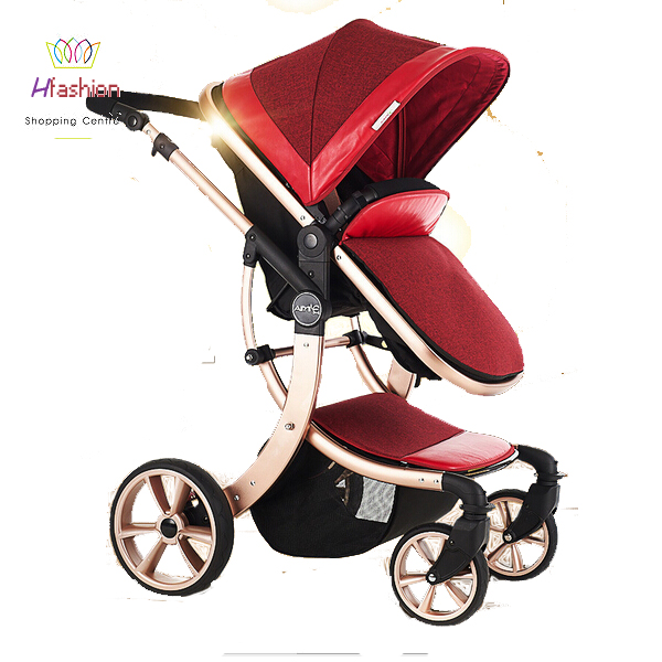 Summer Baby Strollers Infant Seat Cradle Umbrella Folding Lightweight Doll Prams 3 In 1 Travel System Triple Pushchair Trolley(China (Mainland))