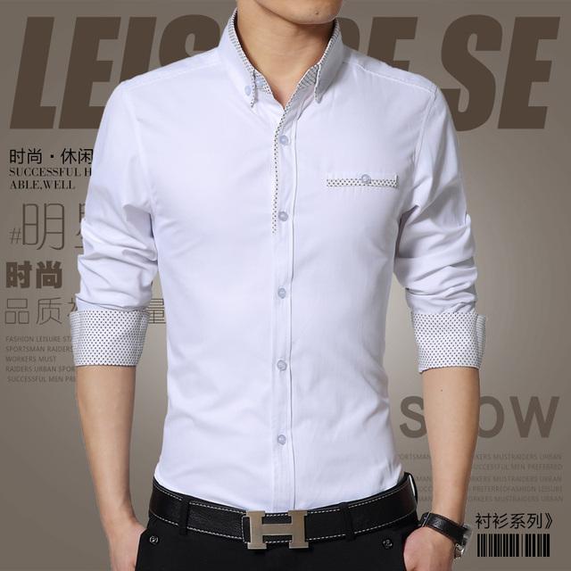 2016 января новое качество людей тонкая с длинными рукавами формальные рубашки деловые ...