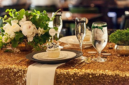 108inch Round GOLD SEQUIN TABLECLOTH, Sequin Cake Tablecloth,Sequin Wedding Tablecloth, Tablecloth(China (Mainland))