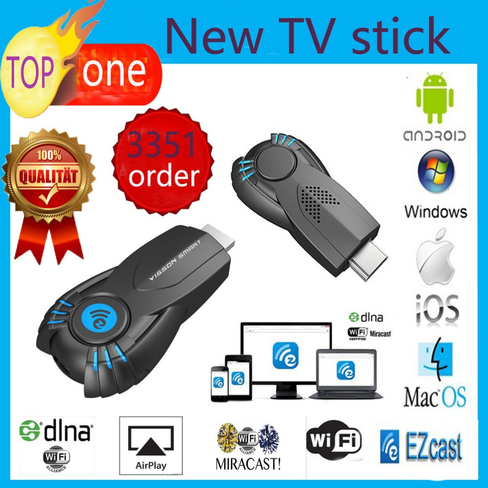 Vensmile V5ii Best Smart TV Stick Ezcast Miracast Dongle DLNA Airplay MirrorOP For IOS Andriod OS