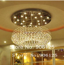 Modern LED Crystal Chandelier Light Fixture 110V 220V Bagels Shape Crystal Chandelier Light Fixture +Free shipping!(China (Mainland))
