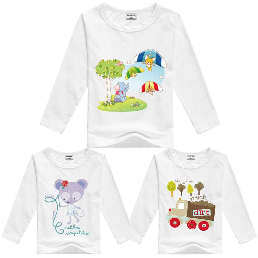 DMDM PIG Brand Cotton T Shirts Children Clothes T-Shirt Baby Boy Girls Long Sleeves T Shirts For Girls Boys Children's Clothing(China (Mainland))