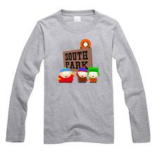 south park Stan Kyle Kenny Cartman couple clothes man sports long sleeve T-shirt(China (Mainland))
