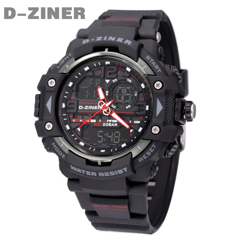 D-ZINER Mens Watches Top Brand Luxury Men's Fashion Digital LED Quartz Watch Men Outdoor Swim Sport Watches Military Wrist Watch(China (Mainland))