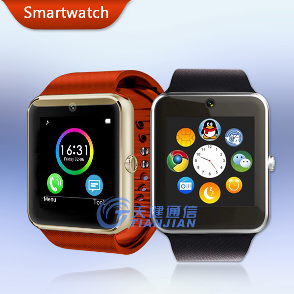 Smart Watch GT08 Android Wear Bluetooth Smartwatch Waterproof Mobile Phone Wrist Watches Camera Clock with Fitness