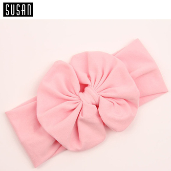 1 X Baby Girl Kids Soft Stretch Stripe Rabbit Bow Bowknot Turban Flower Hairband Headband Hot Hair Band Accessories