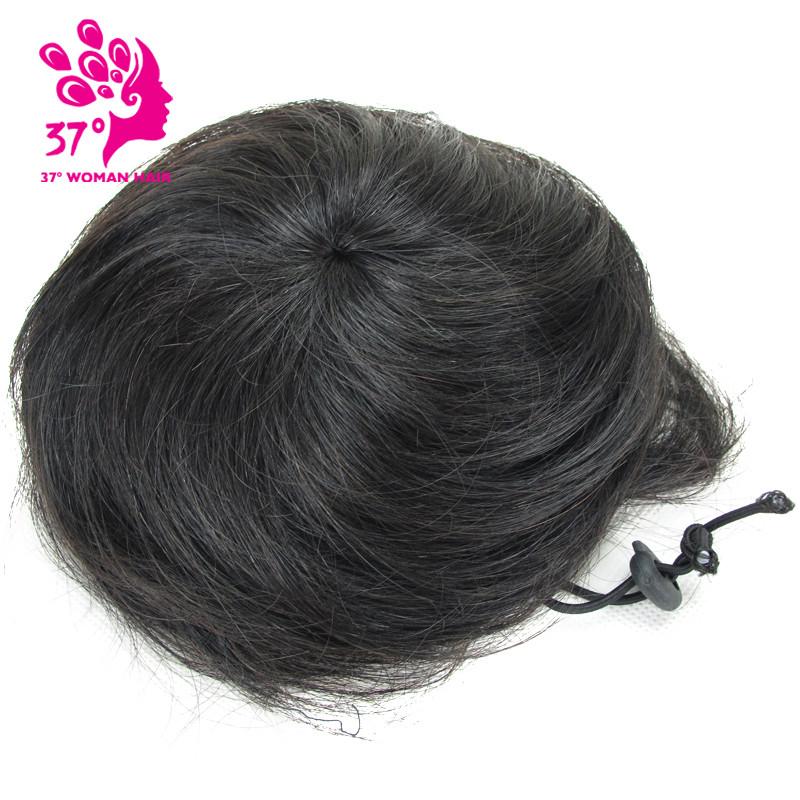 Raw hair Hairpiece Bun Chignon Braid Hair Clip In Buns Extension Updo Hair Bundles Scrunchie for Women