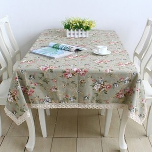 Free shipping quality linen fabric table cloth Pastoral style tablecloth/table cover Customizing is welcomed