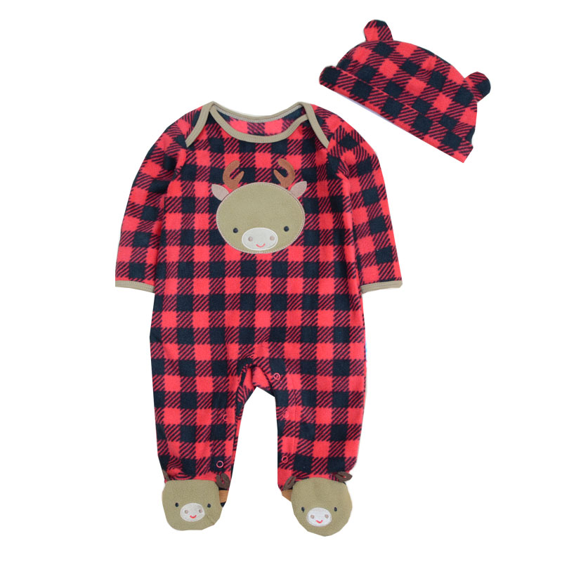 New Arrival Newborn Baby Clothing Fleece Winter Baby Girl Romper Cartoon Jumpsuit Boys Animal Overall Infant Babies Clothes Warm(China (Mainland))