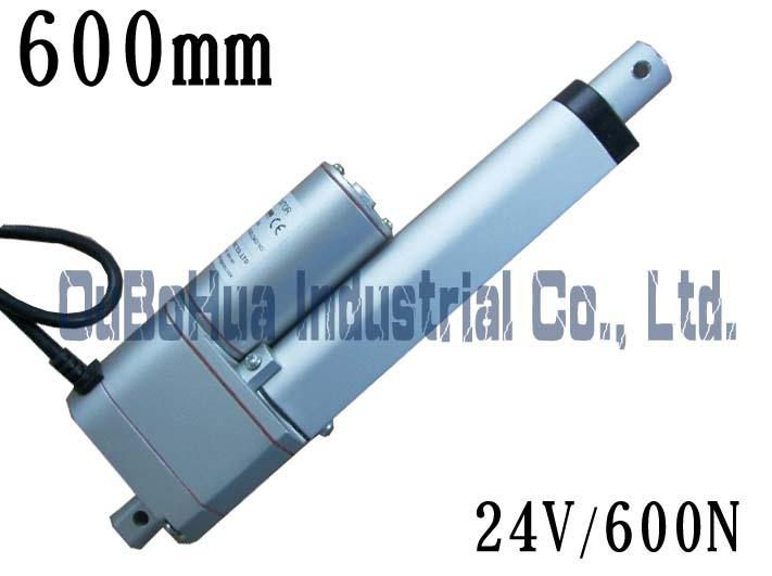 Best seller ! 24V 600mm/ 24 inch stroke,600N / 60KG load linear actuator Linear motor potentiometer(China (Mainland))