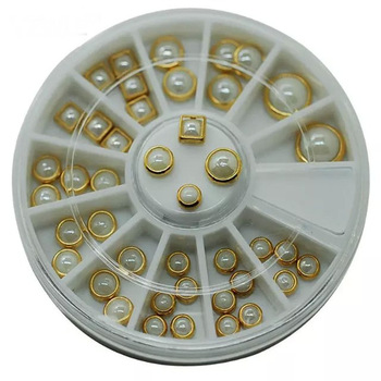 YZWLE 1 Wheel Nail Art Rhinestone & Decoration For DIY Nails Art Accessory Fashion Decorations Beauty Tools #JS18