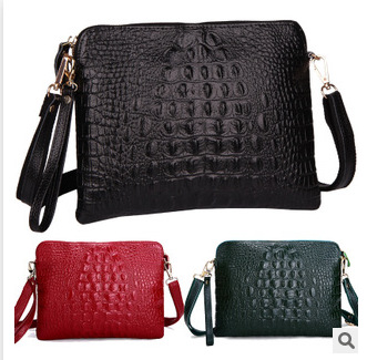 2015 new European and American crocodile leather handbags, leather bags and small bags of single shoulder bag hand bag wholesale(China (Mainland))