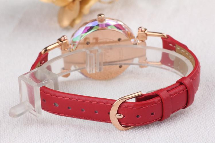 Мелисса Леди Наручные Часы Корпус Часов Лучший Моды Платье женщины Браслет Кожаный Кристалл Роскошные Стразы Девушка Подарок На День Рождения