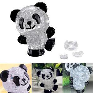 New 2014 Classic Toys Novetly 3D Puzzles Crystal Lovely Panda Puzzle DIY Toy Gift for Kids(China (Mainland))
