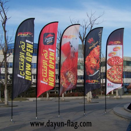 Outdoor Promotion Beach Flag (BF04) 2.8 Meters Height Blade Shape(China (Mainland))