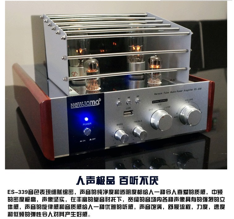 New Jamo ES-339 Hifi 2.0 5Z4P Tube Vacuum Amplifier USB Home Audio Subwoofer Output Amplifier 35W+35W 220V ONLY!(China (Mainland))